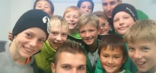 E Junioren Selfie nach dem Turnier.